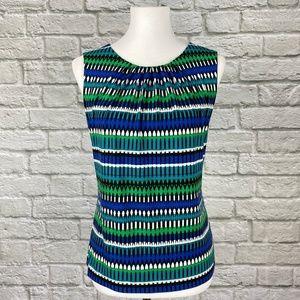 Calvin Klein Blue & Green Abstract Print Cami